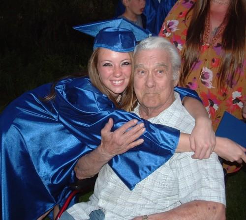 Rach & Dad grad